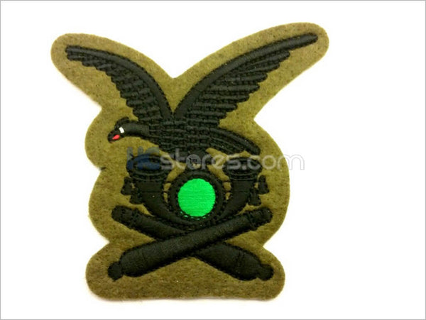 Black thread embroidered Alpine Artillery badge - HugeCARE Srl