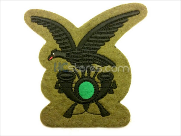 Black thread embroidered Alpine Infantry badge - HugeCARE Srl