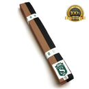 Premium Martial Arts Bicolor Belt Split Length Brown and Black - HugeCARE Srl