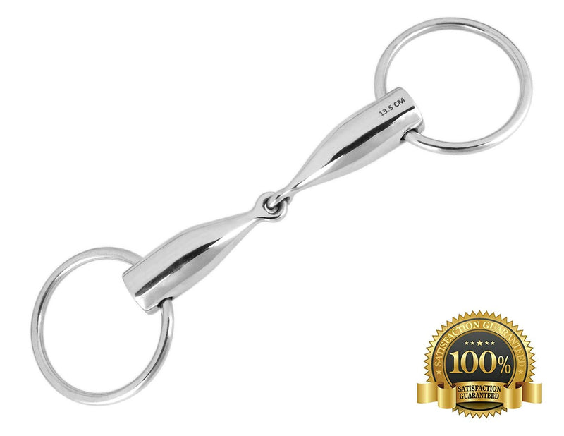 Loose Ring Bit Snaffle With Small Joint Foal Lux Horse Bits - HugeCARE Srl
