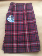 Load image into Gallery viewer, Claret Thistle Tartan - Ladies/girls Kilted skirt.