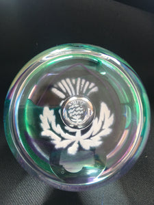 Caithness crystal - Medium Thistle paperweight