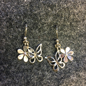 Pure Origins - floral butterfly drop earrings