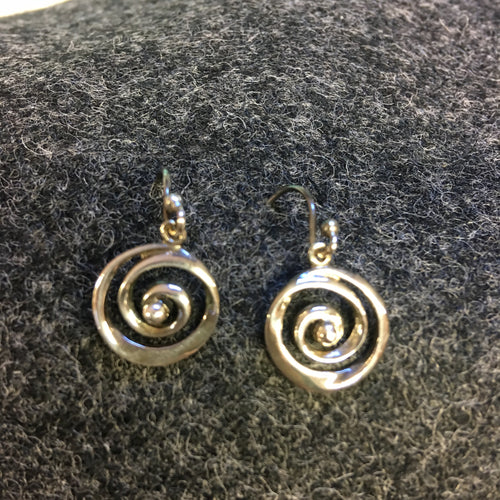 Pure Origins - swirl drop earrings