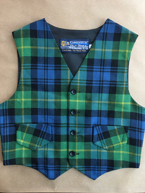 Ancient Gordon tartan Children's waistcoat