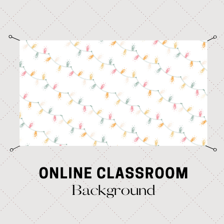 Digital Download Holiday Lights Online Classroom Background
