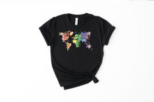 Load image into Gallery viewer, World Watercolor Map Shirt