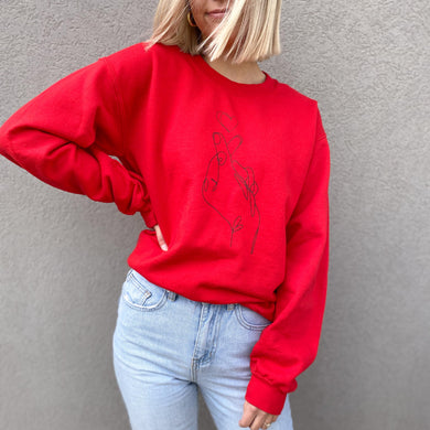 Heart Fingers Sweatshirt