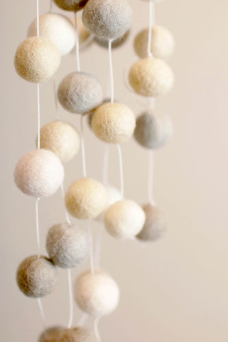 Neutral Colors Pom Pom Ball String