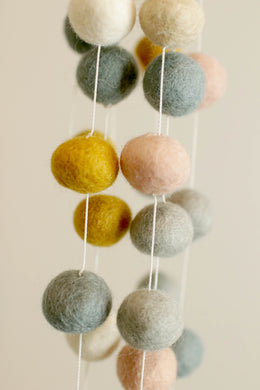 Pastel Colors Pom Pom Ball String