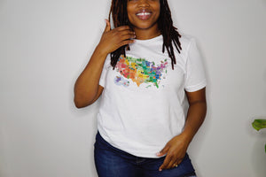 US Watercolor Map Shirt