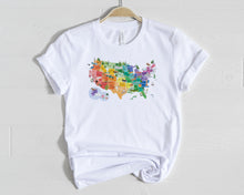 Load image into Gallery viewer, US Watercolor Map Shirt