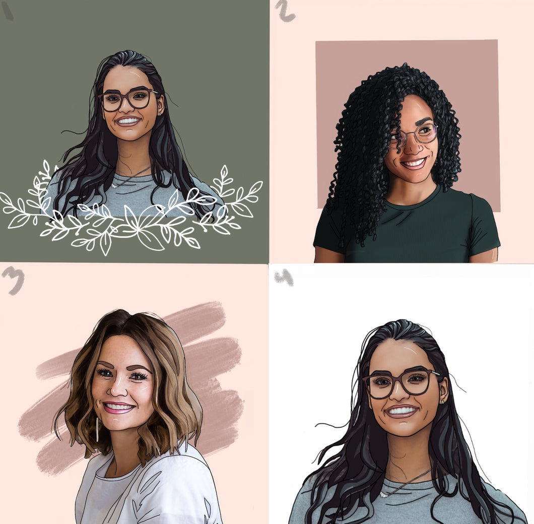 Illustrated Portrait For Your Business