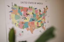 Load image into Gallery viewer, United States Map Background - Pastel Colors