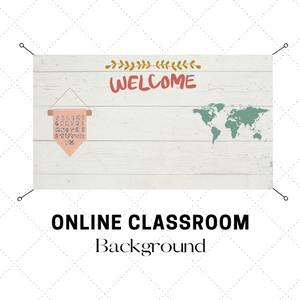 Digital Download Farmhouse Online Classroom Background