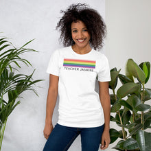Load image into Gallery viewer, Rainbow Lines Custom Name Shirt