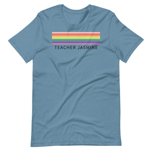 Rainbow Lines Custom Name Shirt