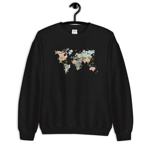 Pastel World Map Sweatshirt