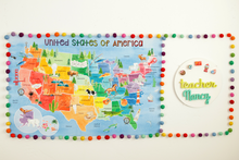 Load image into Gallery viewer, Classroom United States Rainbow Water Color Map Background