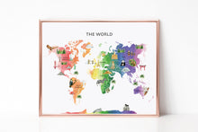 Load image into Gallery viewer, Classroom World White Watercolor Map Background