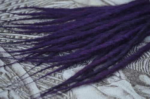 Dark purple, medium length