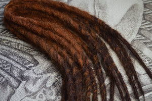 Copper Brown + Dark Chocolate Tips, long