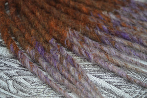 Reddish Brown + Lilac Tips, medium length
