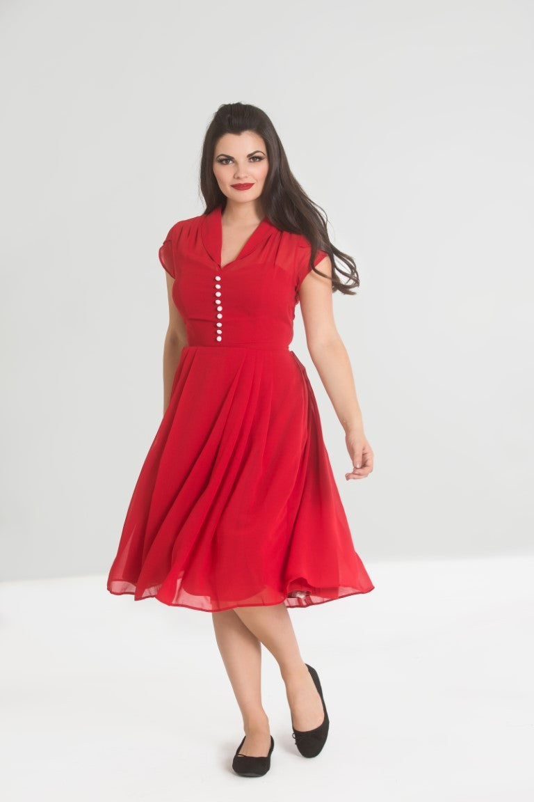 Paige Red Tea Dress SALE WAS £56 NOW £29