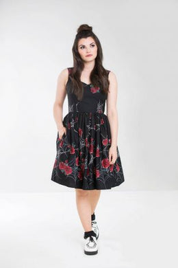 Sabrina Cobweb and Roses Dress SALE WAS £48 NOW £25