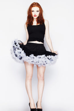 Mini Tutu Skirt Black with white Trim SALE WAS £27 NOW £15