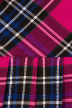 Load image into Gallery viewer, Hell Bunny Chelsy Tartan Mini Skirt Pink and Blue