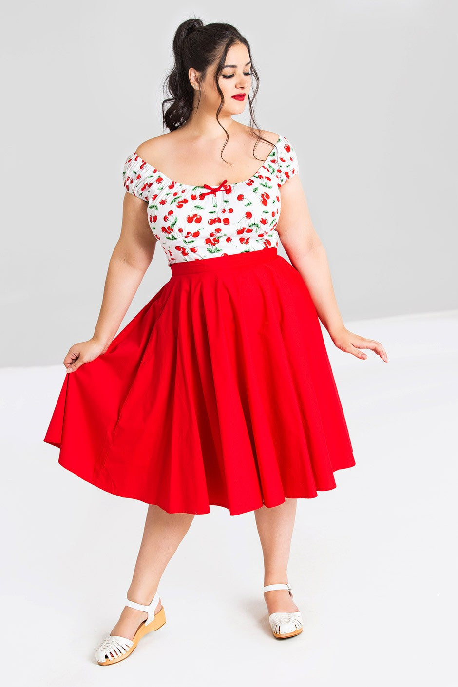 Paula Full Circle 50s Skirt Red