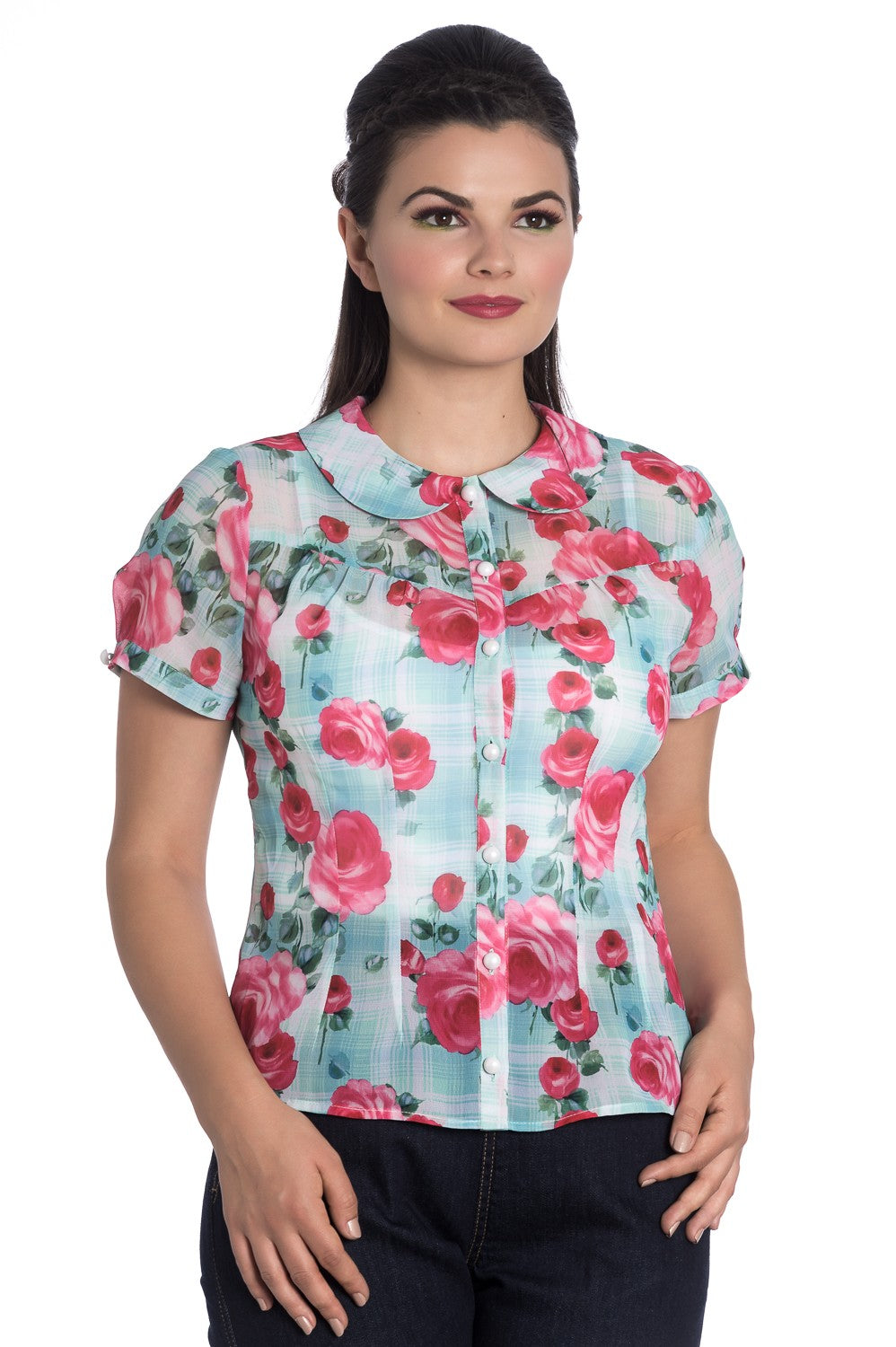 Floral  Chiffon Blouse SALE WAS £25 NOW £15