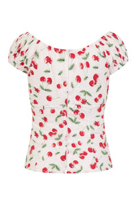 Sweetie Cherry Gypsy top SALE WAS £22 NOW £15