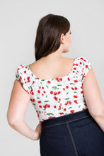 Load image into Gallery viewer, Sweetie Cherry Gypsy top SALE WAS £22 NOW £15