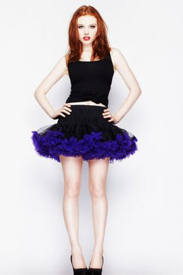 Mini Tutu Skirt Black with Purple Trim SALE WAS £27 NOW £15