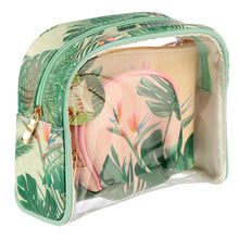 Load image into Gallery viewer, Tropical Paradise 3 Piece Toiletry Vanity Bag Set