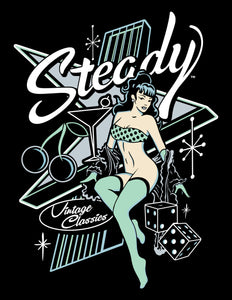 Steady Atomic Pin-up T-shirt