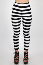 Load image into Gallery viewer, Jailbird Black and White striped Leggings