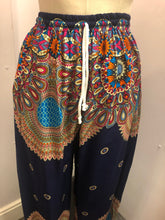 Load image into Gallery viewer, Hareem Trousers Dark Blue Mandala Print