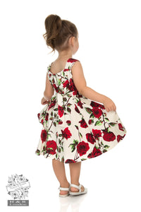 Children's Cream Rose Dress