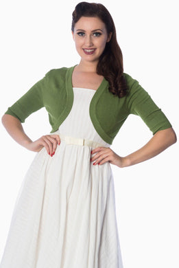 Hudson Short Sleeve Bolero Apple Green
