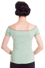 Load image into Gallery viewer, Cilla Polkadot Jersey Top Mint
