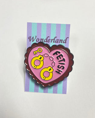 """Fetish"" Heart Pin badge"