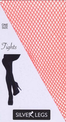 Plain Fishnet Tights (Orange)