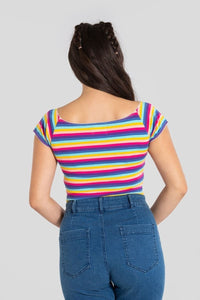Harmony Rainbow Stripe Top