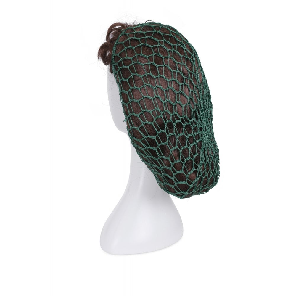 1940s Style Crocheted Snood Green