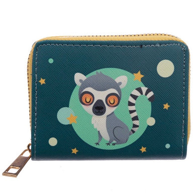 Small Zip Up Lemur Wallet Purse