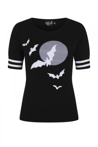 Night flyer soft Bat and moon Jumper