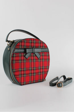 Tammie Tartan Vanity case shaped handbag